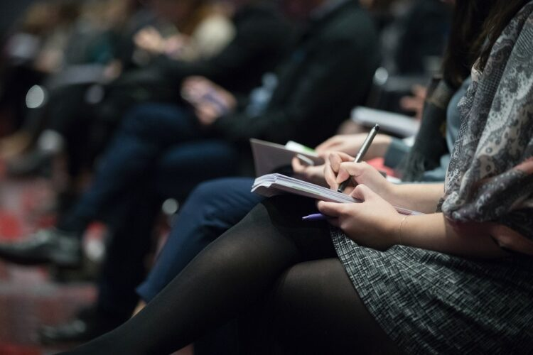 audience at a speaker event